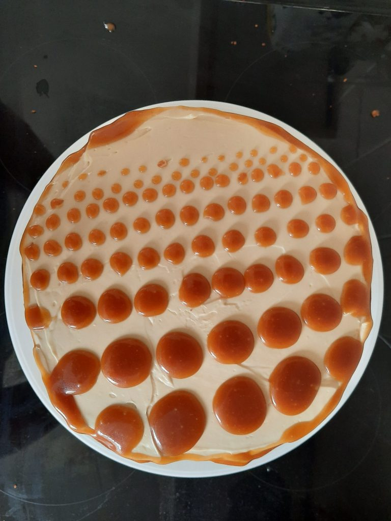 Salted butter caramel cake